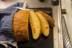 Chili and Cheddar bread is so delicious!