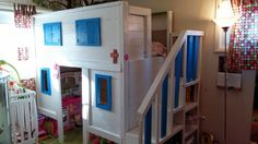 Bunk bed / playhouse conversion. by Funtimebeds on Etsy, $1000.00