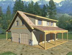 Eplans+Garage+House+Plan+-+Two-Bedroom+Compact+Cottage+-+970+Square+Feet+and+1+Bedroom+from+Eplans+-+House+Plan+Code+HWEPL67417