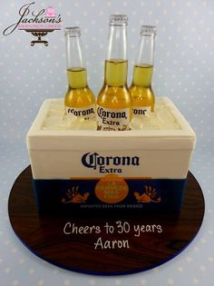 Trish Jackson's Designer Cakes More beer cake Trish Jackson's Designer Cakes Corona Cake, Corona Beer, 18th Birthday Cake For Guys, Liquor Cake, Cake Design For Men, Dad Cake, Novelty Cakes, Occasion Cakes, Celebration Cakes