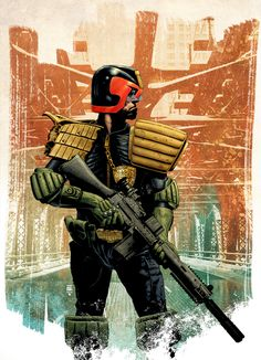 Tim Bradstreet - Sketch for Cover to Mega-City Masters Volume 2 and the final cover #JudgeDredd