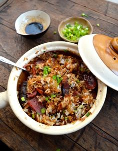 HONGKONG STYLE CLAY POT RICE: The Rice Bowl To End All Rice Bowls. The Rice Bowl That Launched A Thousand Ships. The rice bowl that needs only fifteen short minutes of cooking time before you're happily scarfing it down.