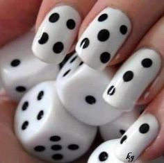 Gorgeous monochrome nail art
