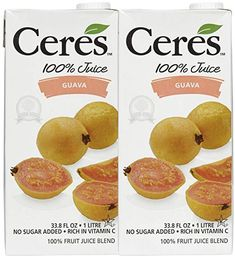 Ceres All Natural Pure Fruit Juice Blend, Guava - Gluten Free, Rich in Vitamin C, No Added Sugar or Preservatives, Cholesterol Free - FL OZ (Pack of Guava Juice, Fruit Juice, Ceres Juice, South African Recipes, Refreshing Drinks, Vitamin C, Cholesterol, Gourmet Recipes, Preserves