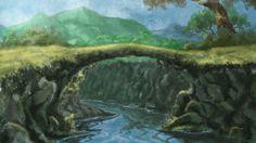 A tree bridge to cross a rill... Imaginary Art Work :)