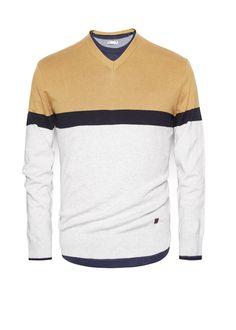 Jersey algodón color block