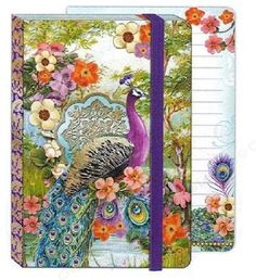 Punch Studio Soft Cover Bungee Journal Peacock