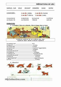 Learn French For Kids Free Printable French Videos Language Teaching French Teacher, Teaching French, French Prepositions, French Worksheets, French Grammar, French Verbs, Core French, French Classroom, French Resources