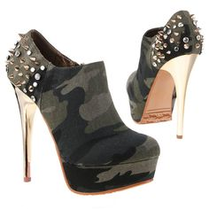 Camo Spiked Shoes