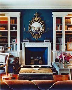 Beautiful dark blue walls!