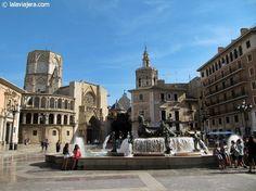 Plaza de la Virgen, centro histórico de #Valencia