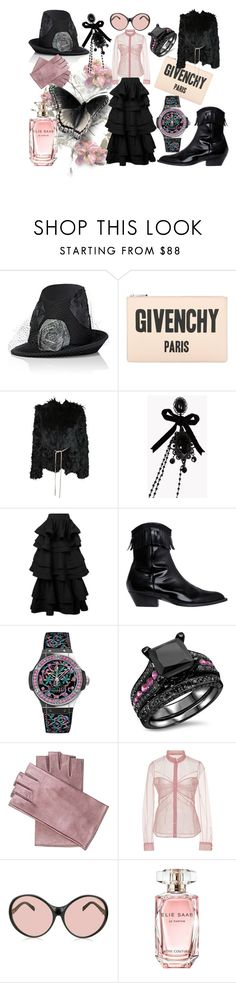 """#49"" by marina-antipanova ❤ liked on Polyvore featuring Albertus Swanepoel, Givenchy, Yves Saint Laurent, Dsquared2, Rosie Assoulin, Philosophy di Lorenzo Serafini, Hublot, Mario Portolano, Mary Katrantzou and Emilio Pucci"