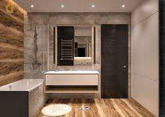 Дизайн интерьера ванной в трёхкомнатной квартире 106 кв.м в стиле хай-тек Alcove, Living Room Designs, Bathtub, Bathroom, Projects, Quotes, Standing Bath, Washroom, Log Projects