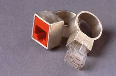 Image result for contemporary silver sculptured rings