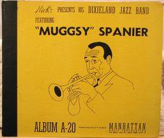 Muggsy Spanier on Manhattan A-20  3 Record Set; 78s