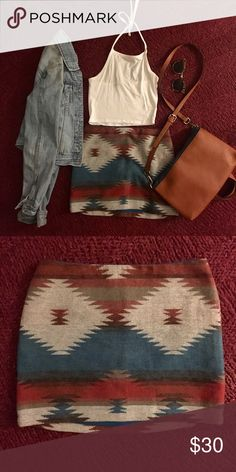 Cute tribal skirt!! Tribal skirt same pattern on both sides Urban Outfitters Skirts Mini