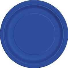 "Amazon.com: Custom & Unique {7"" Inch} 20 Count Multi-Pack Set of Medium Size Round Disposable Paper Plates w/ Single Colored Basic Winter Seasonal Party ""Navy Blue Colored"": Kitchen & Dining"