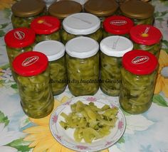 Canning Pickles, Rigatoni, Celery, Mason Jars, Cooking Recipes, Homemade Food, Sauces, Winter, Dresses