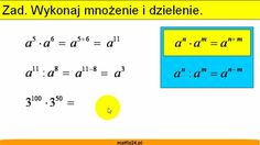 Mnożenie i dzielenie potęg. http://matfiz24.pl/potegi/mnozenie-dzielenie-poteg-samych-podstawach