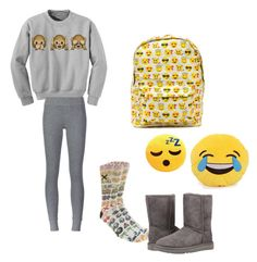 """Plane Rides"" by austynh on Polyvore featuring ATM by Anthony Thomas Melillo, Odd Sox and UGG Australia"