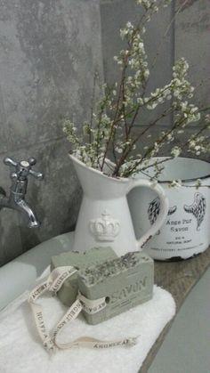 rustic handmade lavender soap
