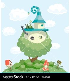 Fairy Tale House Vector Download composite