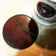 river table inspired coaster #atelierjilo #leathergoods #EDC #leathercraft #watchstrap #leatherstrap #customstrap #travel #everydaycarry #handstitched #leather #gear #leatherwork #hkig #hkonlineshop #madeinhongkong #handmade #accessories #leatherman #adventure #pocketdump #coaster #beer #coffee by atelier_jilo