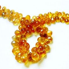 AAA.Golden Citrine Micro Faceted Tear Drops Briolette 100% Natural ......