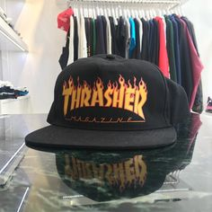 Thrasher Flame Logo Snapback This lightweight 100% polyester adjustable snapback hat features a printed Thrasher flame logo. One size fits most. @8five2shop  HKD 260
