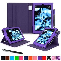 Kindle Fire HD 7 2014 Case, roocase Dual View 2014 Fire HD 7 Folio Case with Sleep / Wake Smart Cover with Multi-Viewing Stand for Amazon Kindle Fire HD 7 Tablet (4th Generation - 2014 Model), Purple rooCASE http://www.amazon.com/dp/B00NQMZEKU/ref=cm_sw_r_pi_dp_EUOnwb1HMA20C