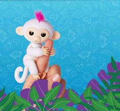 This is Sophie. She is sweet and loving. She loves to be held and hugged.  Fingerlings are available at retrobonus.com #Fingerlings #Monkey #FingerMonkey #Toys #Fun #Cute #MomLife #Kids #Christmas #Awesome