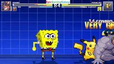 SpongeBob SquarePants & Pikachu The Pokemon VS The Rhino & Nova In A MUGEN Match / Battle This video showcases Gameplay of Pikachu The Electric Type Pokemon And SpongeBob SquarePants VS The Rhino And Nova The Superhero In A MUGEN Match / Battle / Fight