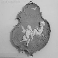 Bisque Wall Plaque With Fairies,Vollkstedt C1880 - Antiques Atlas