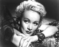 """Marlene Dietrich, """"Golden Earrings"""""""