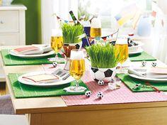 Fußball-Deko für den Tisch