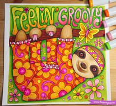 Hippie Animals Coloring Book by Thaneeya McArdle features 32 whimsical coloring pages of groovy creatures filled with peace and love!