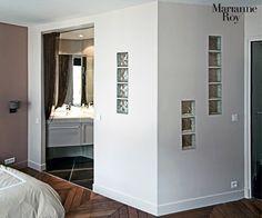 Cloison douche brique de verre et placo bing images for Cloison verre salle de bain