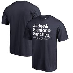 acd57489bd8fa Aaron Judge, Giancarlo Stanton & Gary Sanchez New York Yankees Fanatics  Branded Hometown Collection T-Shirt - Navy