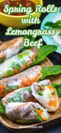 Asian Recipes, Beef Recipes, Cooking Recipes, Healthy Recipes, Ethnic Recipes, Oriental Recipes, Veggie Recipes, Vietnamese Fresh Spring Rolls, Vietnamese Spring Rolls