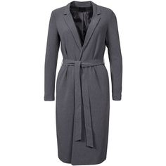 Only Onlella Ls Cool Ht Long Coat Trs (£55) ❤ liked on Polyvore featuring outerwear, coats, grey, jackets, womens-fashion, long grey coat, grey oversized coat, oversized coat, long gray coat and longline coat