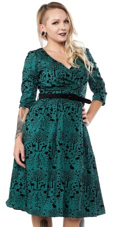 7cd91ef8aa HELL BUNNY SHERWOOD 50 S DRESS GREEN  79.00  hellbunny  hellbunnydress   vintagestyle 1950s Fashion Dresses