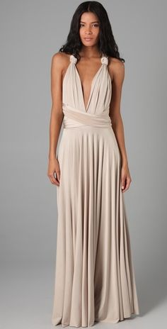 Convertible bridesmaid dress - can tied and wrapped into more than ...