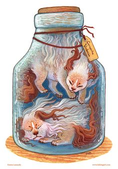 """Bottled: Guardian Pups"" by Emma Lazauski (2013)"