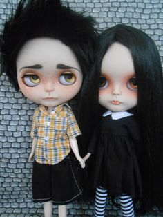 Blythe custom set with coffin