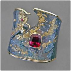 Goph Albitz. Sterling, gold and not sure what the stone is. Ruby? Rubellite? (scheduled via http://www.tailwindapp.com?utm_source=pinterest&utm_medium=twpin&utm_content=post864113&utm_campaign=scheduler_attribution)