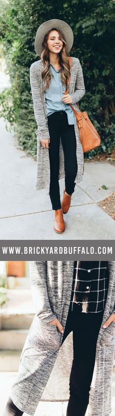 $24.99 - the perfect accessory for every outfit - long duster cardigan.   #fashion #womenswear #tops #womensfashion #fallfashion #fall2017 #cardigan #duster #dustercardigan #womenstyle #brickyardbuffalo