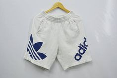 6a24e239a636 ADIDAS Shorts Vintage 90 s Adidas Big Logo Spell Out Made In Japan Shorts  Pants Size Jaspo L