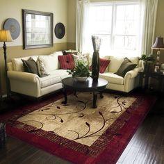 Allen Roth Holder Green Rectangular Indoor Tufted Nature