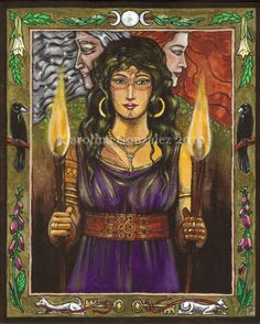 I am Hecate of Greece.  Triple Goddess of the crossroads of choice.  I balance my powers of thought and emotion.  I choose the path I walk.  The torch of my reason is illumined by my brilliant intuition.