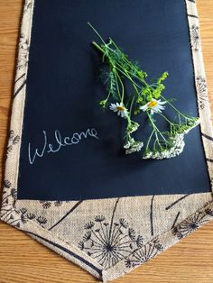 Burlap Queen Anne's Lace 48 Inch Table Runner by LindasOtherLife, $30.00